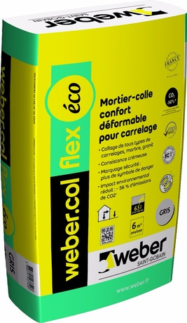 Mortier colle carrelage weber col flex for Colle carrelage flex