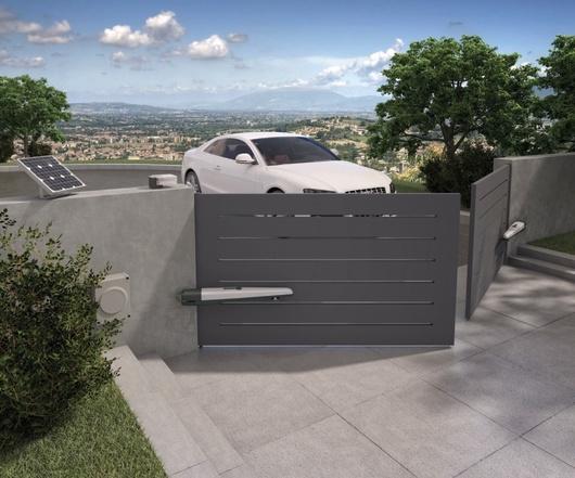 motorisation pour pour portail 2 battants nice hoppkce. Black Bedroom Furniture Sets. Home Design Ideas